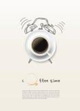 Fond de conception de l'avant-projet de horodateur de tasse de café Image libre de droits