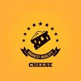 Fond de conception de label de vintage de fromage Photographie stock libre de droits