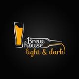 Fond de conception de maison de bouteille en verre de bière illustration libre de droits
