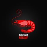 Fond de conception de menu de fruits de mer de crevette Images libres de droits