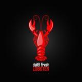 Fond de conception de menu de fruits de mer de homard illustration libre de droits