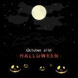 Fond de conception de message de Halloween Images stock