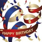 Fond de confettis de joyeux anniversaire Images libres de droits