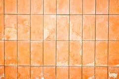 Fond de configuration de mur de briques d'argile Images libres de droits