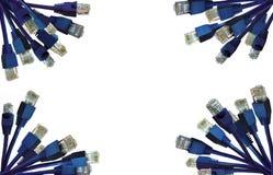 Fond de connecteurs de réseau Photographie stock