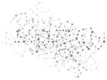 Fond de connexion de molécule Photographie stock
