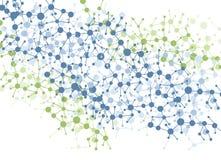 Fond de connexion de molécule de couleur Photos libres de droits