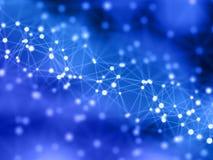 Fond de connexions réseau avec les canalisations de raccordement et les points illustration libre de droits