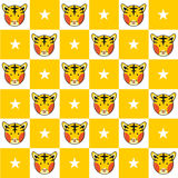 Fond de conseil de Tiger Star Yellow White Chess illustration libre de droits