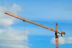 Fond de construction diagonal de ville de grue photo stock