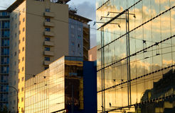 fond de constructions de ville image libre de droits