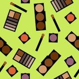 Fond de cosmétiques Illustration plate Images libres de droits