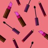 Fond de cosmétiques Illustration plate de vecteur Photos stock