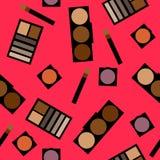 Fond de cosmétiques Illustration plate de vecteur Images libres de droits