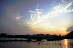 Fond de coucher du soleil Image stock
