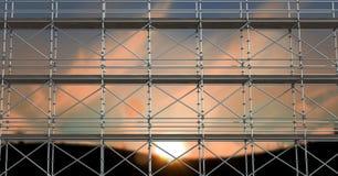 fond de coucher du soleil de petit morceau de l'échafaudage 3d Photographie stock libre de droits