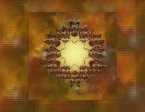 Fond de couleur d'automne avec la conception en métal Photographie stock