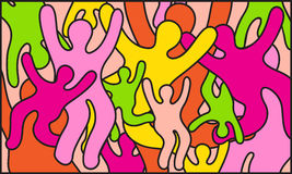 Fond de couleur de partie Illustration Libre de Droits
