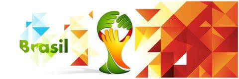 Fond de couleur de polygone avec le symbole de mains Images libres de droits