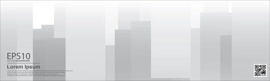 Fond de couleur de gradient de résumé/affiche gris, calibre de bannière illustration stock