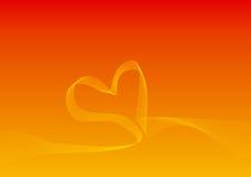 Fond de courbe de forme de coeur illustration de vecteur
