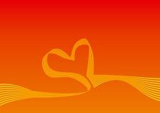 Fond de courbe de forme de coeur illustration stock