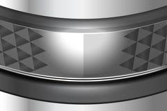 Fond de courbe en métal Images libres de droits