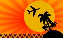 Fond de course avec l'avion illustration libre de droits