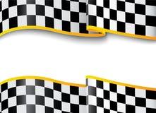 Fond de course. Noir et blanc à carreaux Photographie stock