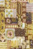 fond de couture avec perler Photos stock