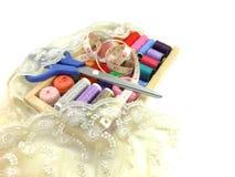 Fond de couture d'accessoires Photographie stock