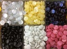 Fond de couture de boutons Photographie stock libre de droits