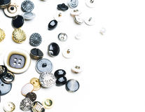 Fond de couture de boutons Photos stock