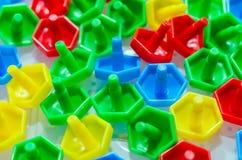 Fond de couture de boutons Texture colorée Photo stock
