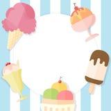 Fond de crème glacée d'été Photo stock