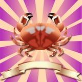 Fond de crabe et ruban réalistes d'en cuivre Photos libres de droits