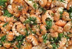 Fond de crevettes Image libre de droits
