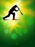 Fond de cricket de vecteur Images libres de droits