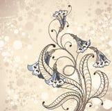 Fond de cru avec des fleurs illustration de vecteur