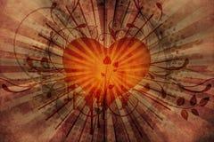 Fond de cru avec le coeur Image stock