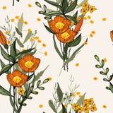 Fond de cru wallpaper Tiré par la main Illustration de vecteur illustration stock