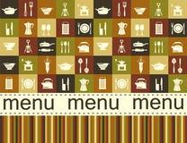 Fond de cuisine avec l'endroit pour le texte Photo stock