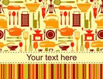 Fond de cuisine avec l'endroit pour le texte Images libres de droits