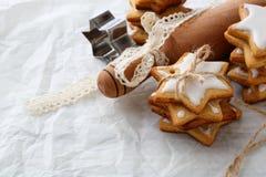 Fond de cuisson de Noël photo stock