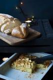 Fond de cuisson de Noël sur des bougies et Photo stock