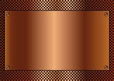 Fond de cuivre Images stock
