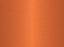 Fond de cuivre balayé Photo libre de droits