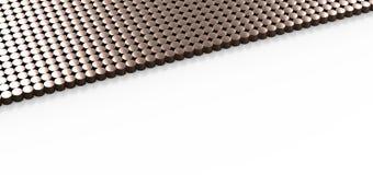 Fond de cuivre de calibre de modèle de cylindre Photo libre de droits