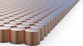 Fond de cuivre de calibre de modèle de cylindre Images stock