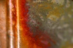 Fond de cuivre en métal Photos libres de droits